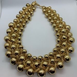 Gold rope and bead necklace